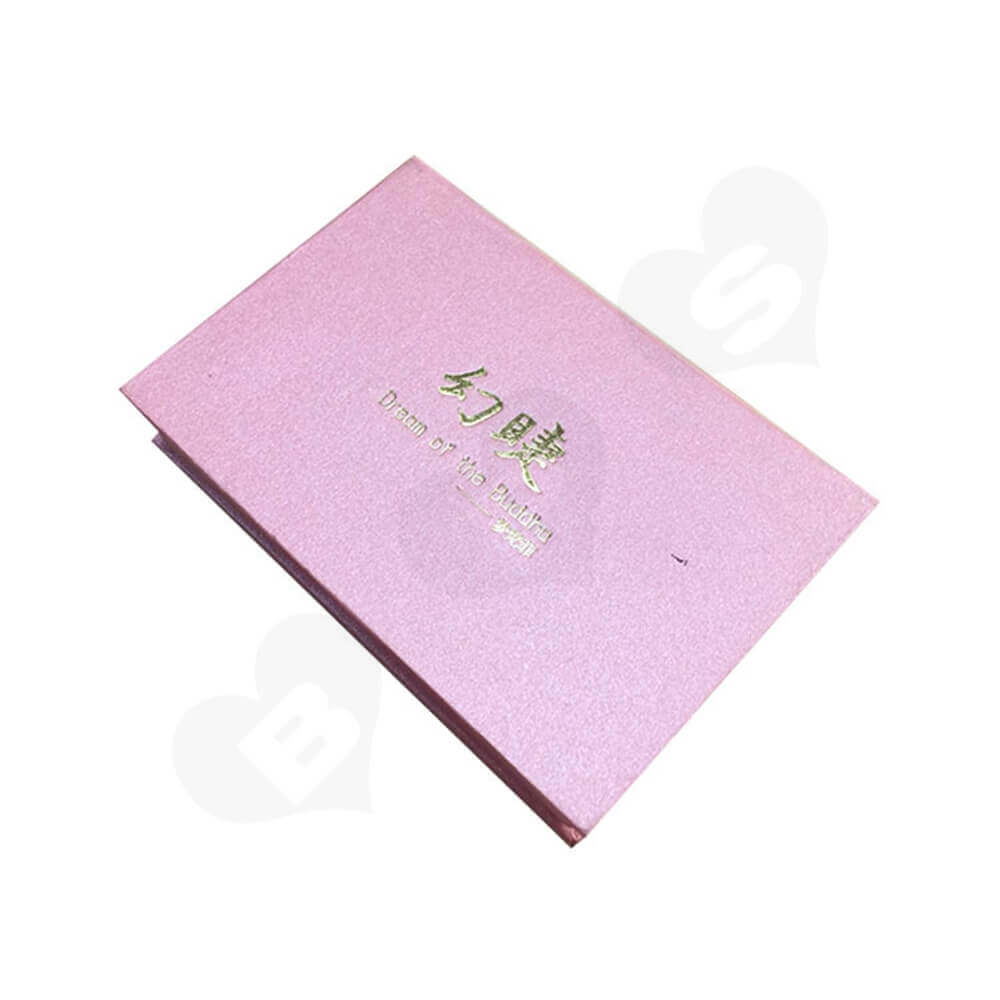 Hinged Lid Gift Box For Eyelashes Side View Two