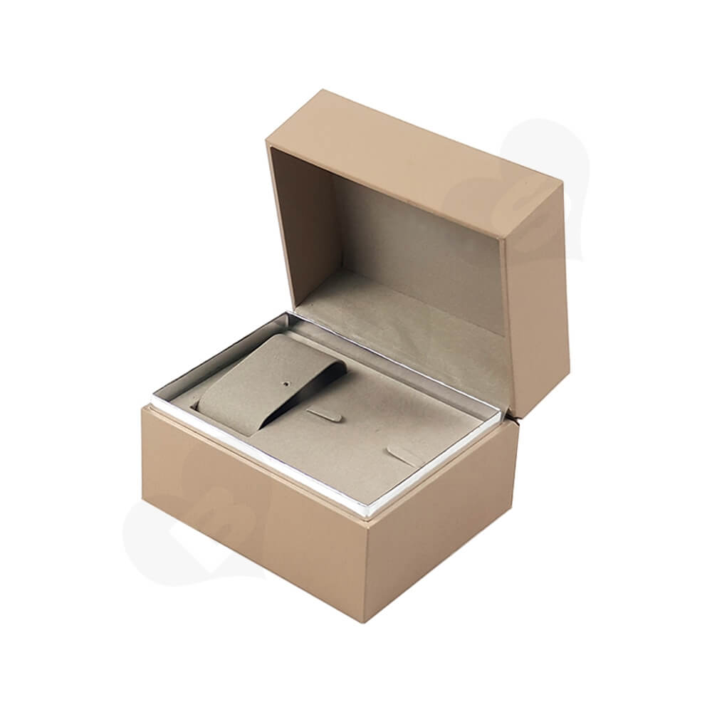 Hinged Lid Wooden Box For Women Watch Side View Five