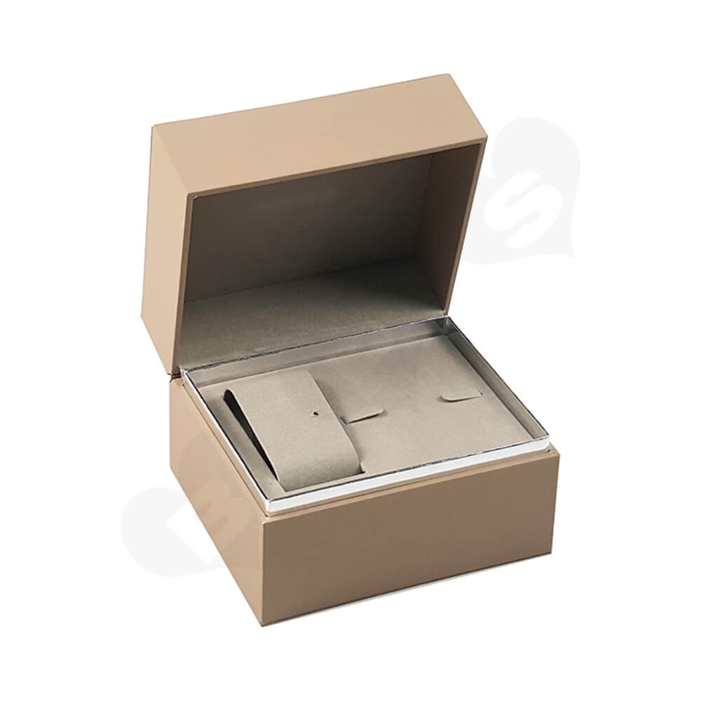 Hinged Lid Wooden Box For Women Watch Side View One