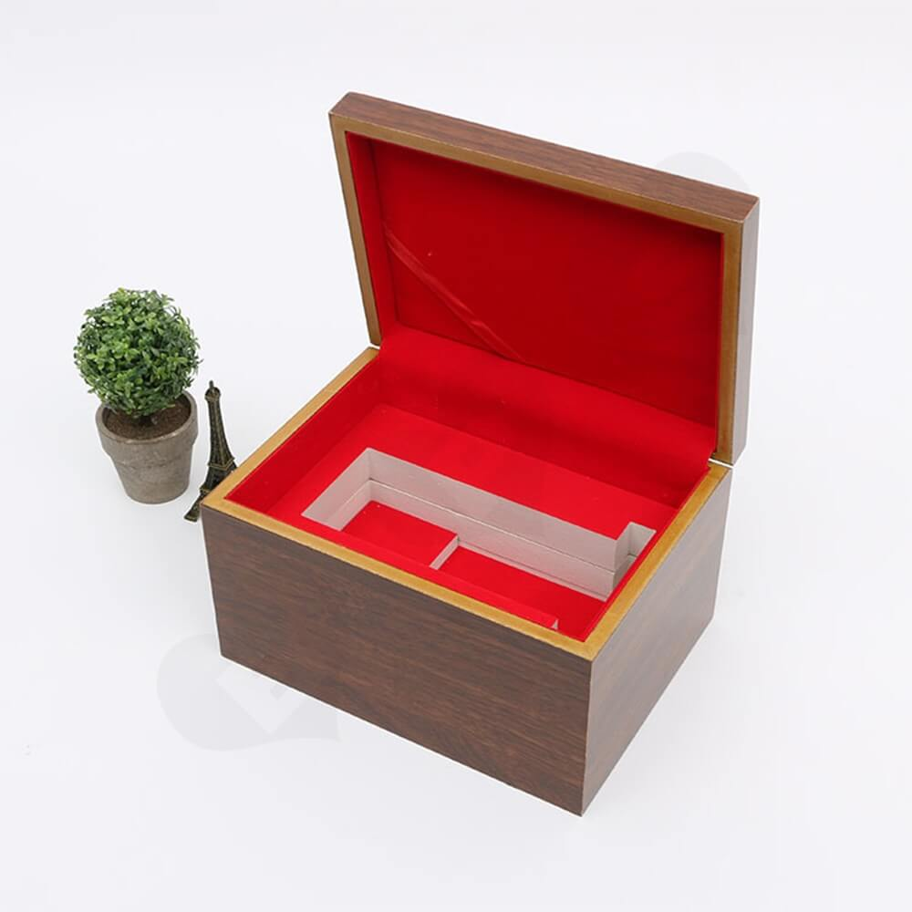 Logo Foil Stamping Wooden Watch Box Side View Five