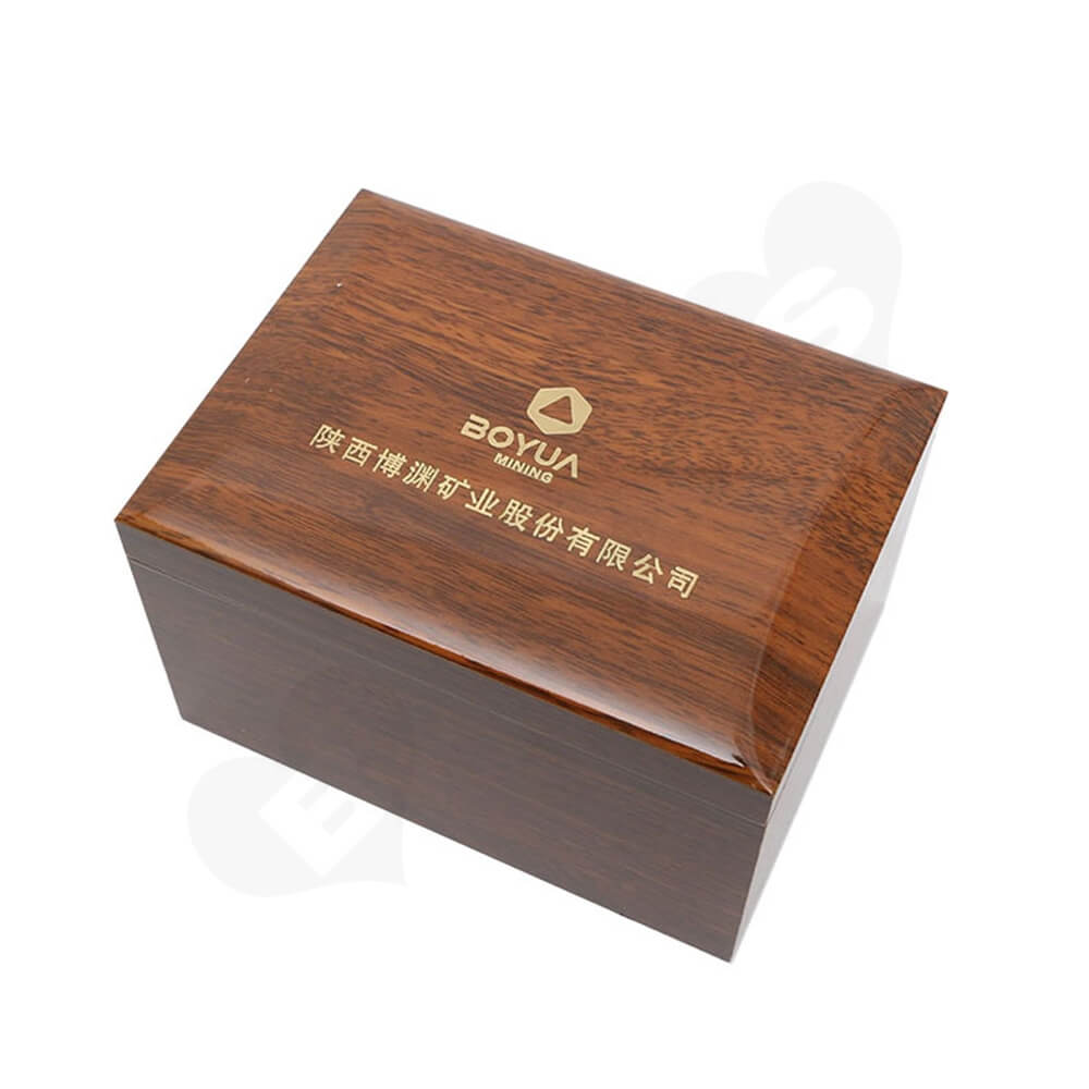 Logo Foil Stamping Wooden Watch Box Side View One