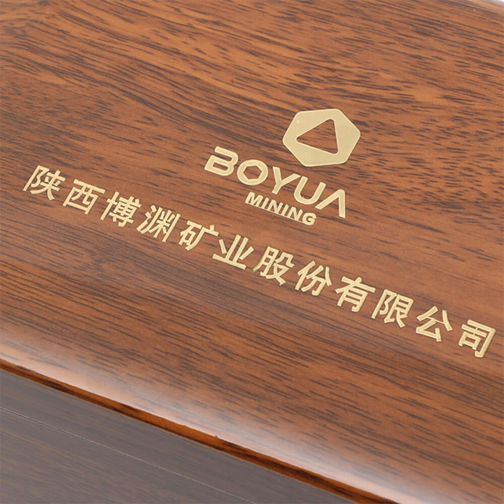 Logo Foil Stamping Wooden Watch Box Side View Two