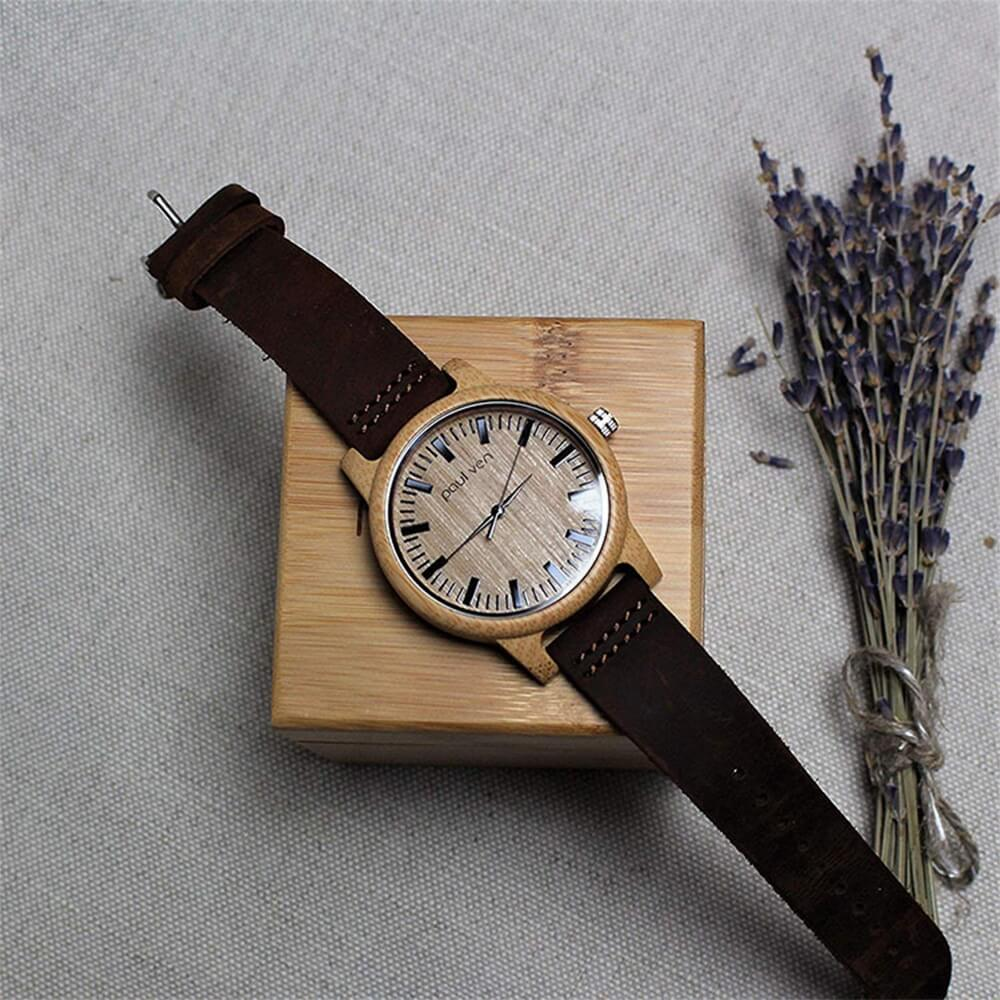 Original Wooden Watch Box With Custom Logo Side View Five
