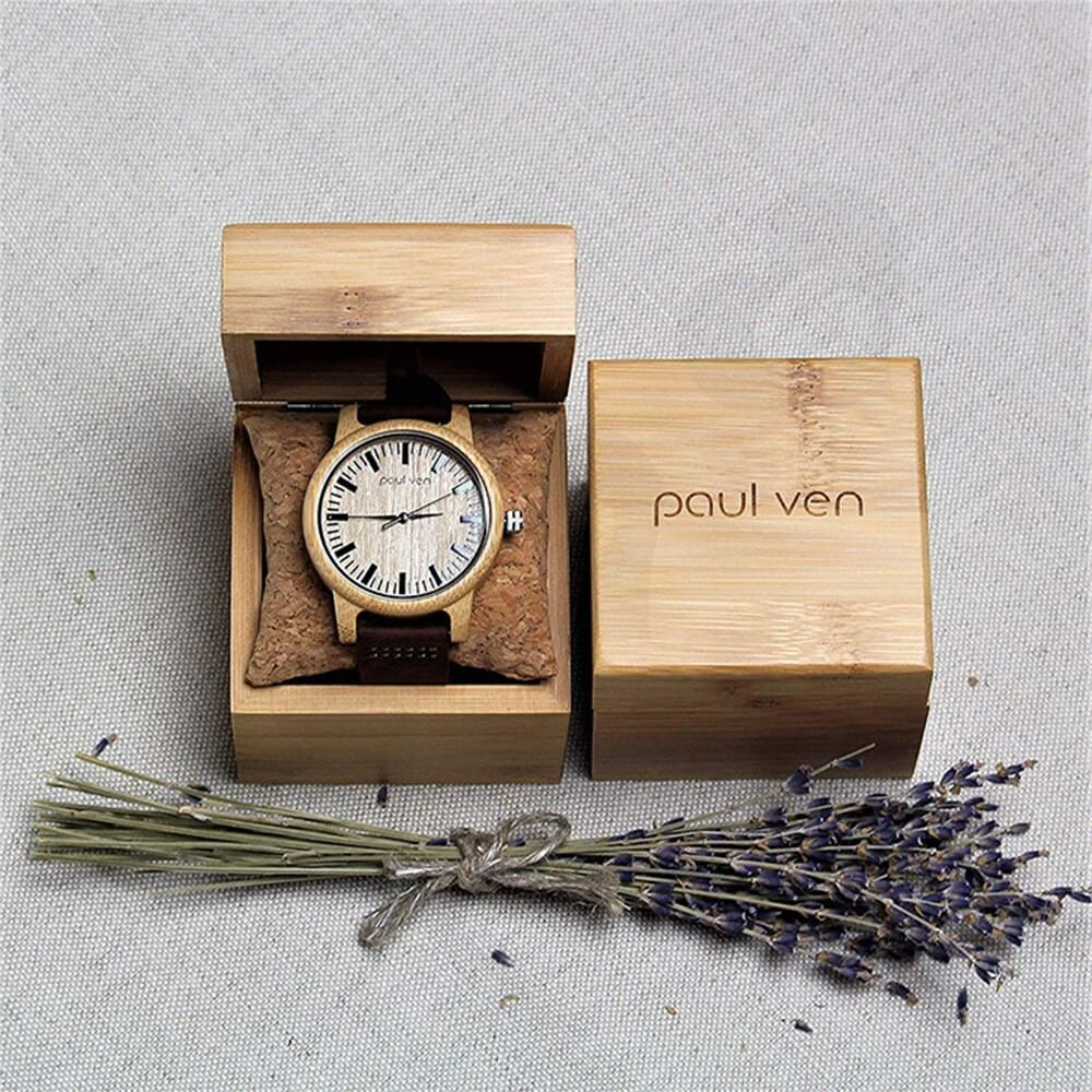 Original Wooden Watch Box With Custom Logo Side View Four