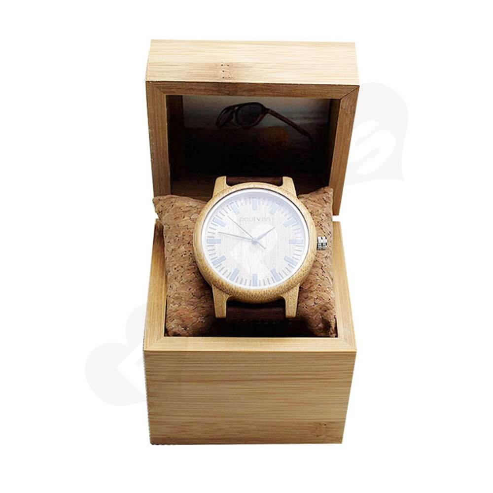Original Wooden Watch Box With Custom Logo Side View One