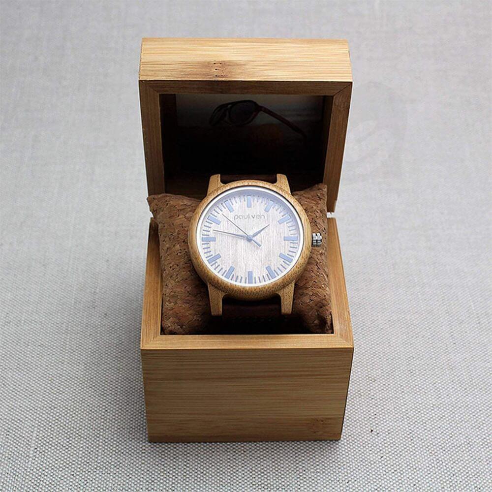 Original Wooden Watch Box With Custom Logo Side View Three
