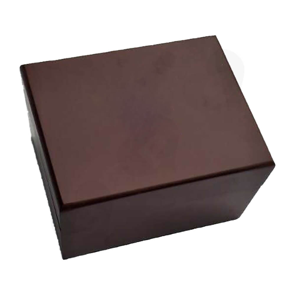 Painted Walnut Wooden Box For Watch Side View Two