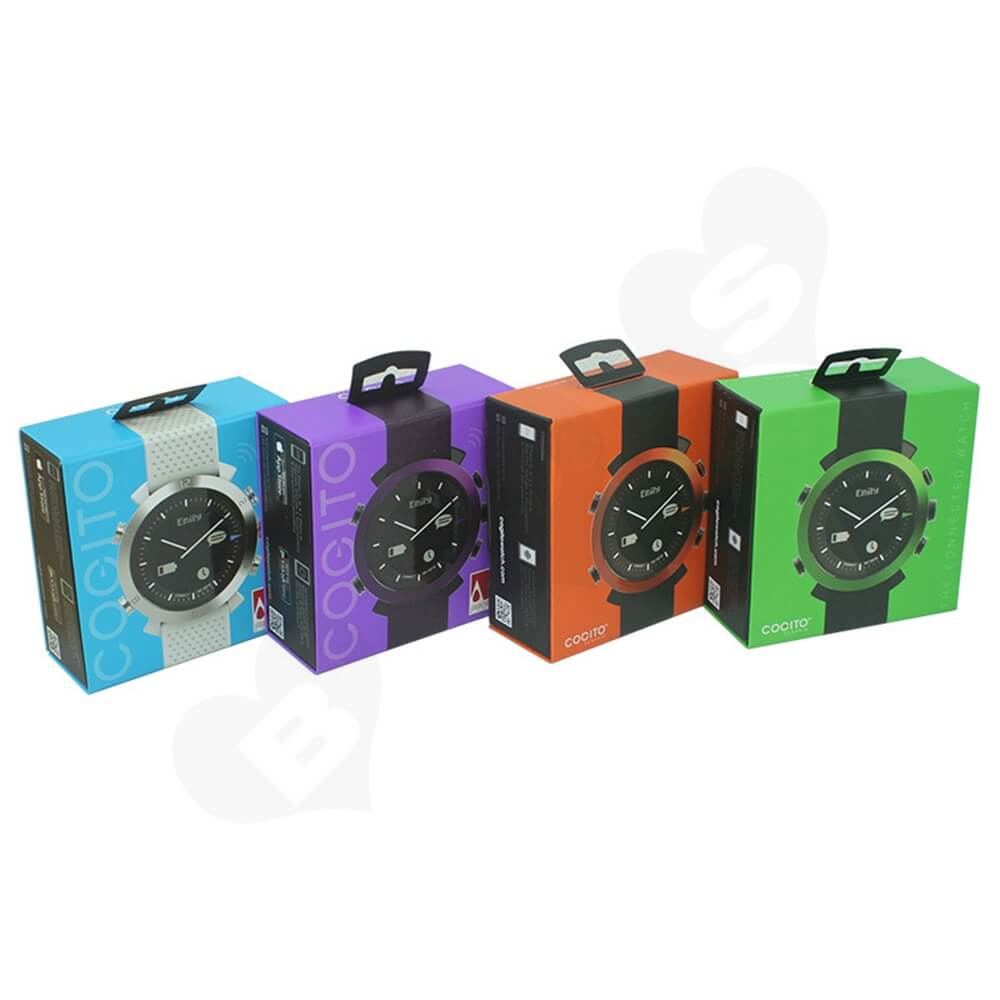 Paper Board Folding Box For Children Watch Side View One