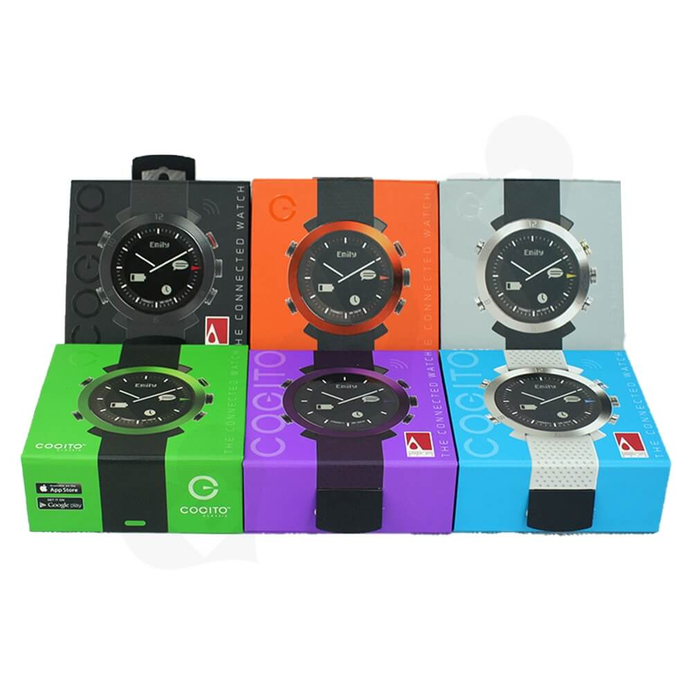 Paper Board Folding Box For Children Watch Side View Two