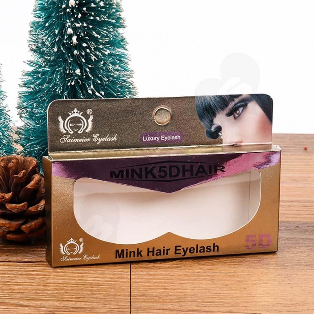 Personalized Mint Hair Eyelash Packaging Box Side View Three
