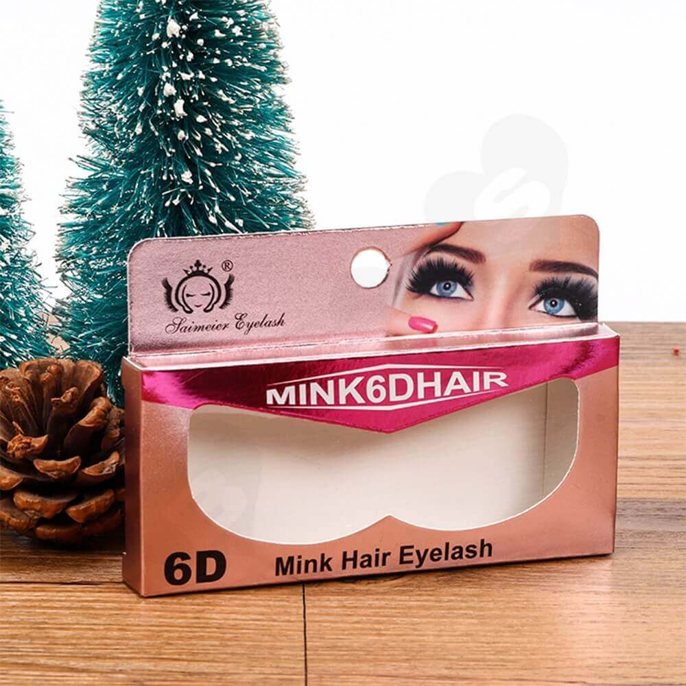 Personalized Mint Hair Eyelash Packaging Box Side View Two