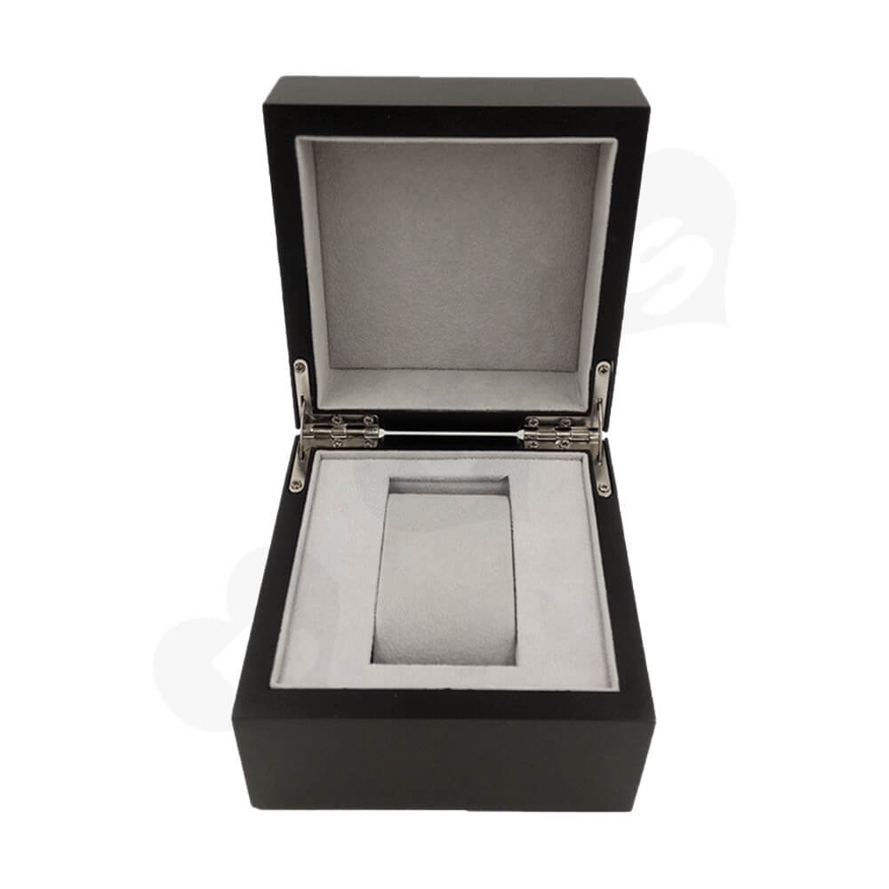 Reinforced Wooden Box For Watch With Fabric Insert Side View Four