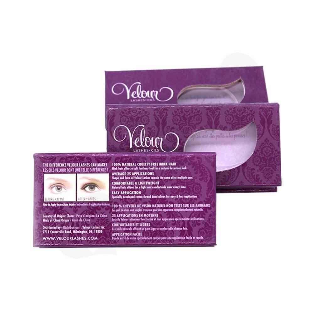 Spot UV Coating Gift Box For Eyelashes Side View One
