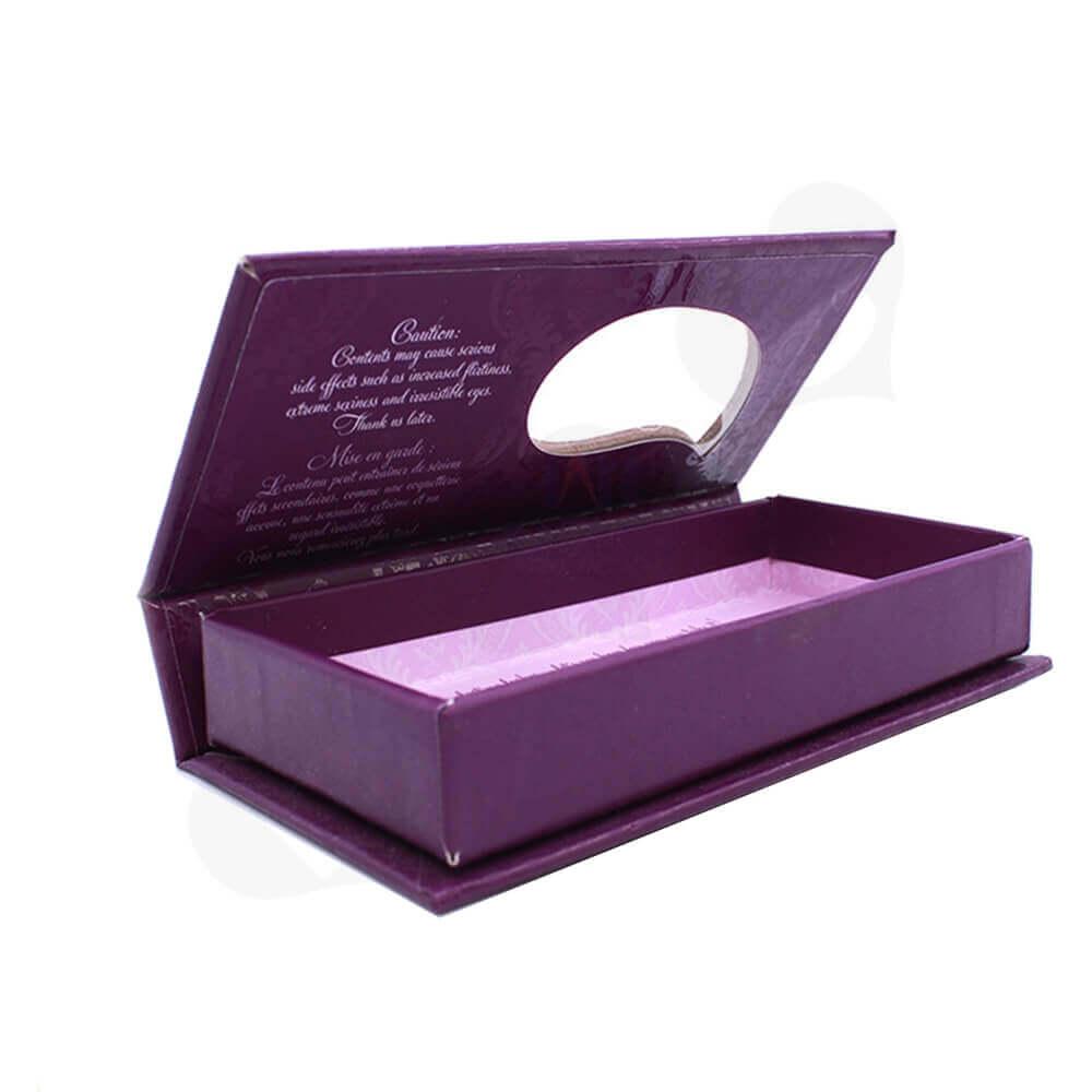 Spot UV Coating Gift Box For Eyelashes Side View Three