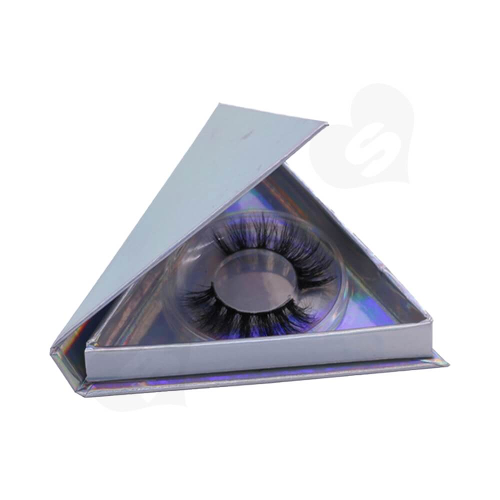 Triangle Shape Eyelash Packaging Box Side View Four