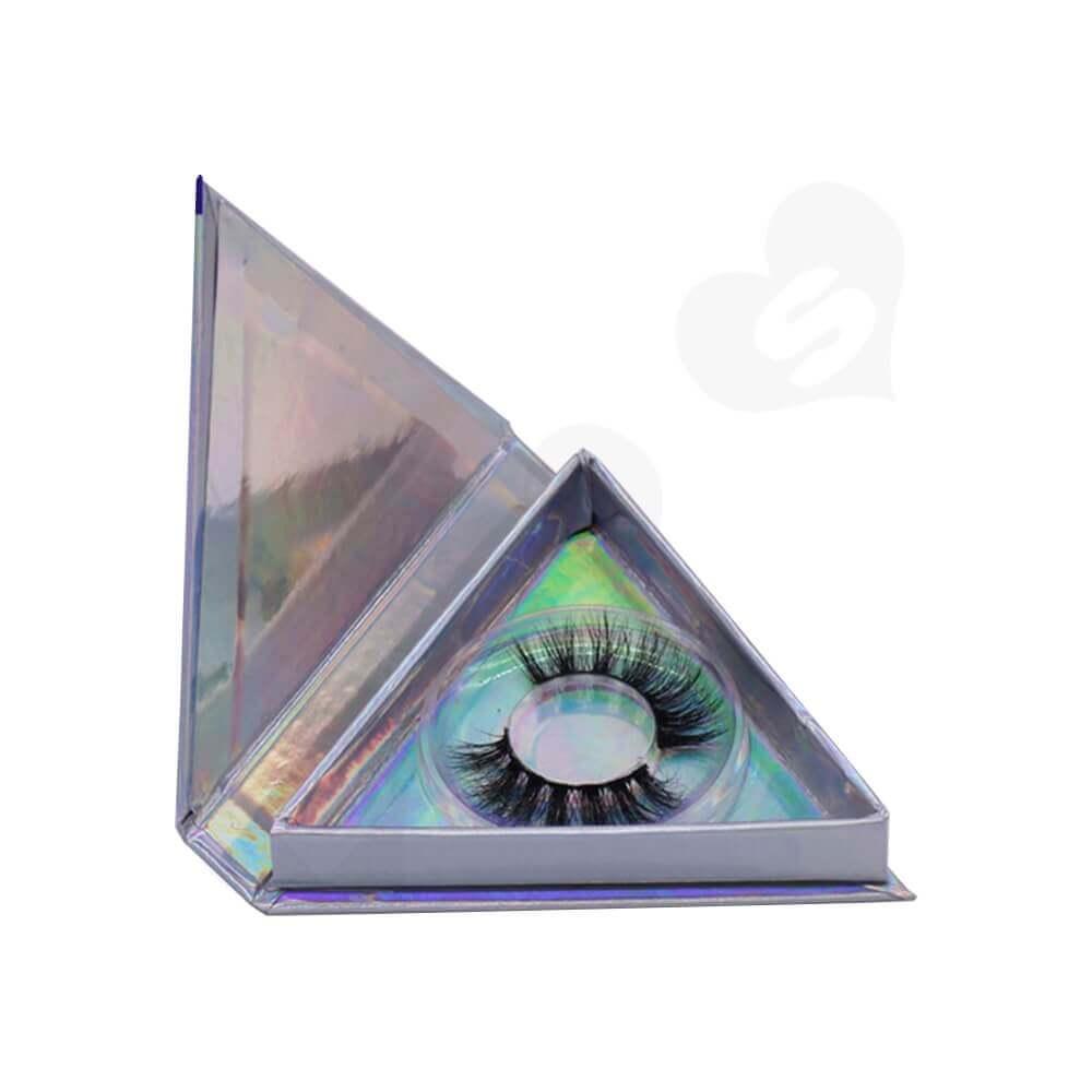 Triangle Shape Eyelash Packaging Box Side View One
