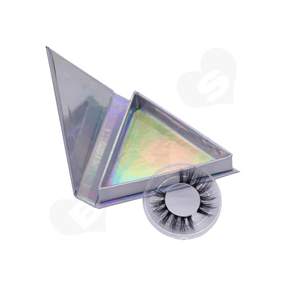 Triangle Shape Eyelash Packaging Box Side View Two