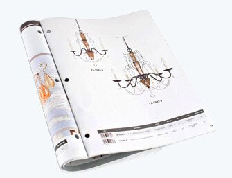 led light paper catalog printing
