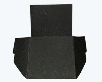 small matt black paper folder