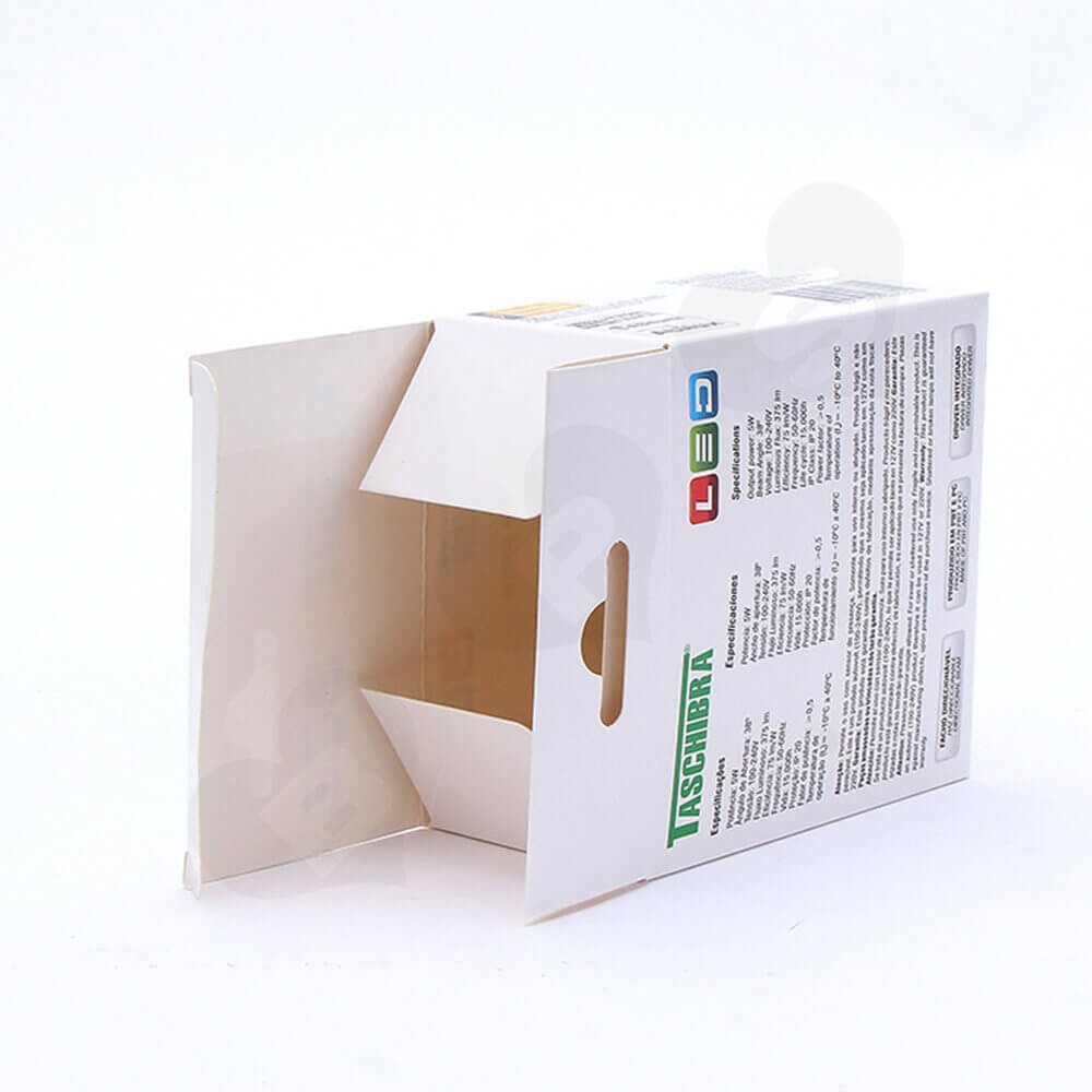 Cardboard Box With Hanger For Spot Light Side View Two
