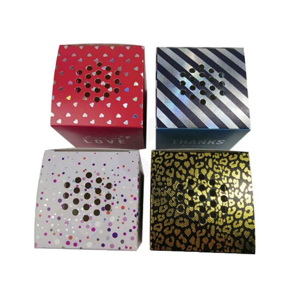 Cardboard Metallic Paper Box For Party Light Side View One