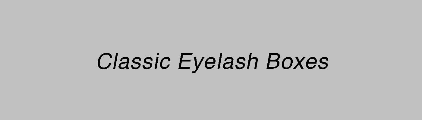 They are very classic eyelash packaging models