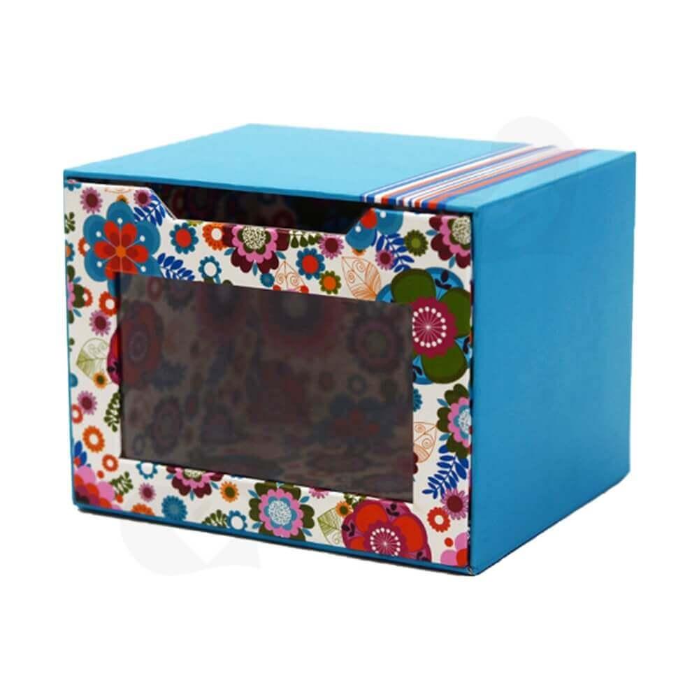 Custom Drawer Box With Window For Mug Side View Four