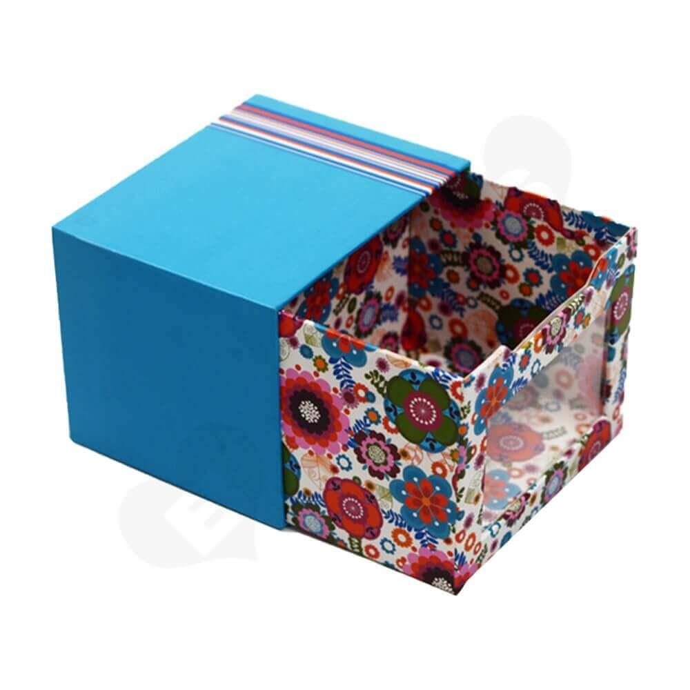 Custom Drawer Box With Window For Mug Side View One