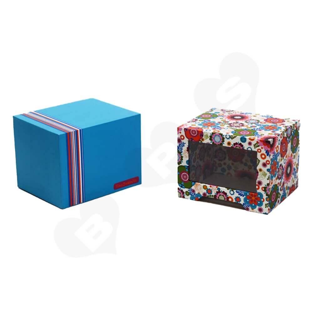 Custom Drawer Box With Window For Mug Side View Two