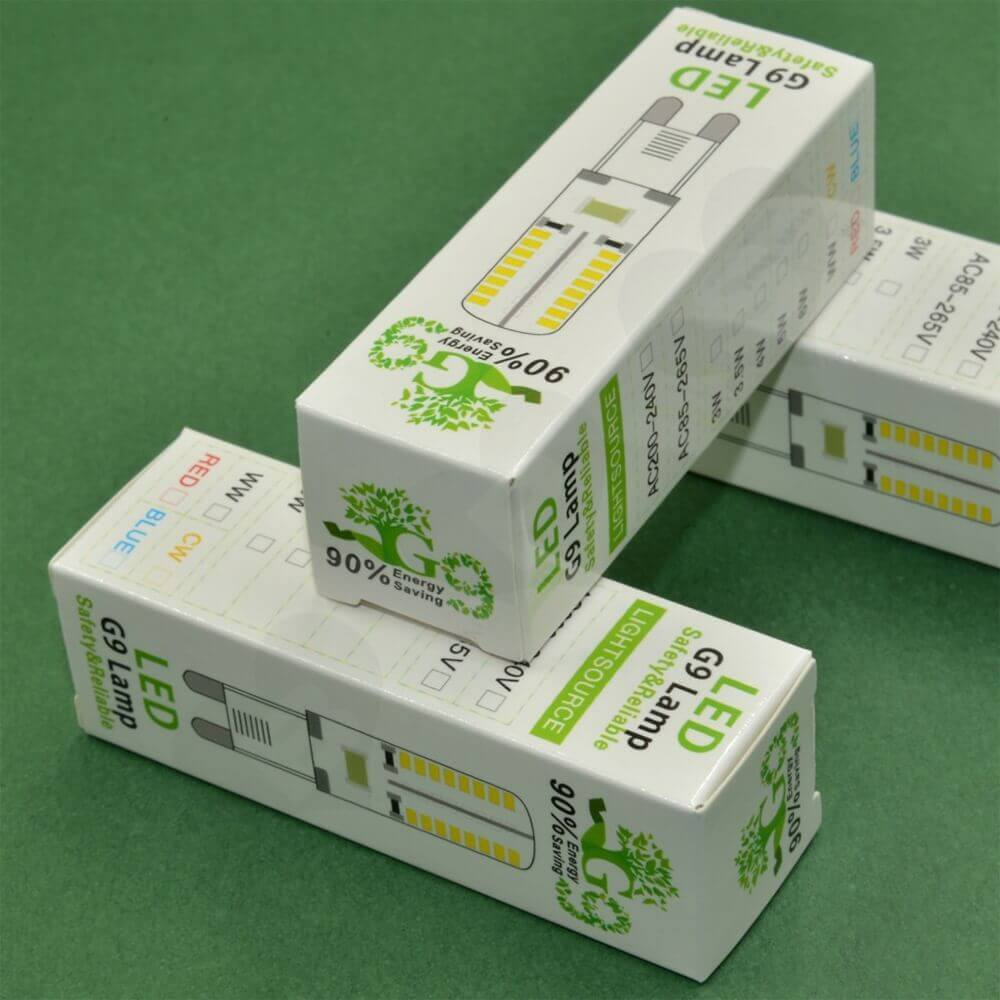 Custom Folding Carton For LED Lamp Side View Two