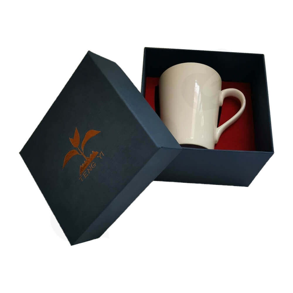 Custom Gift Boxea With Texture For Mug Side View Two