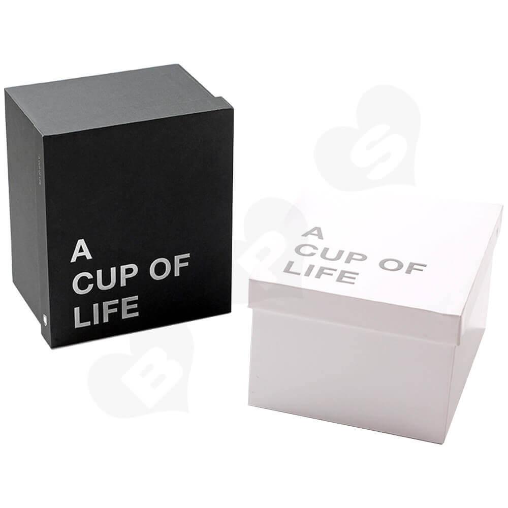 Custom Mug Cup Packaging Boxes Bags Side View One
