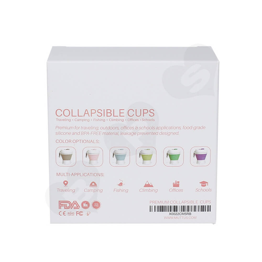 Custom Packaging Box For Collapsible Mug Side View Four
