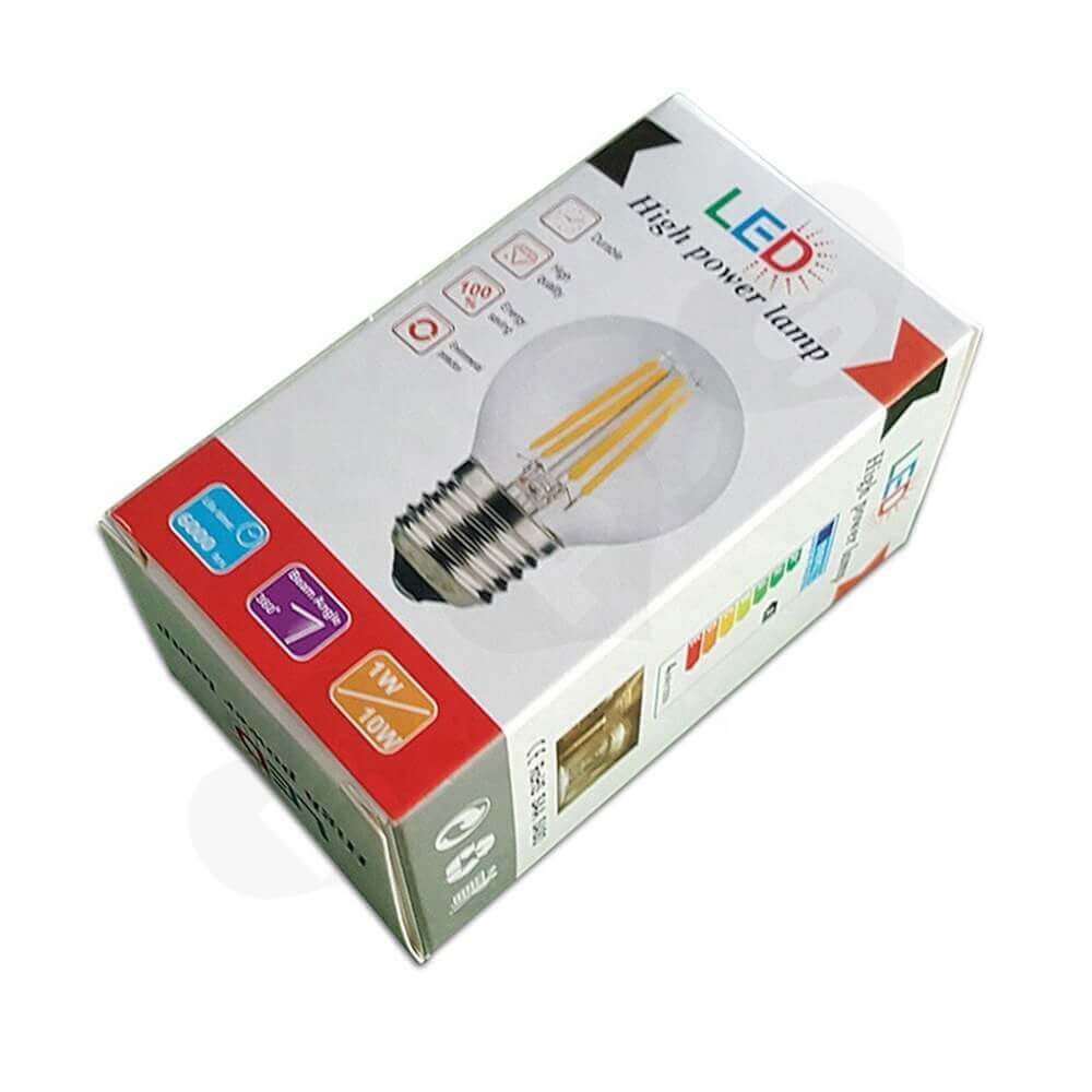 Custom Printed Box For High Power Lamp Side View Five