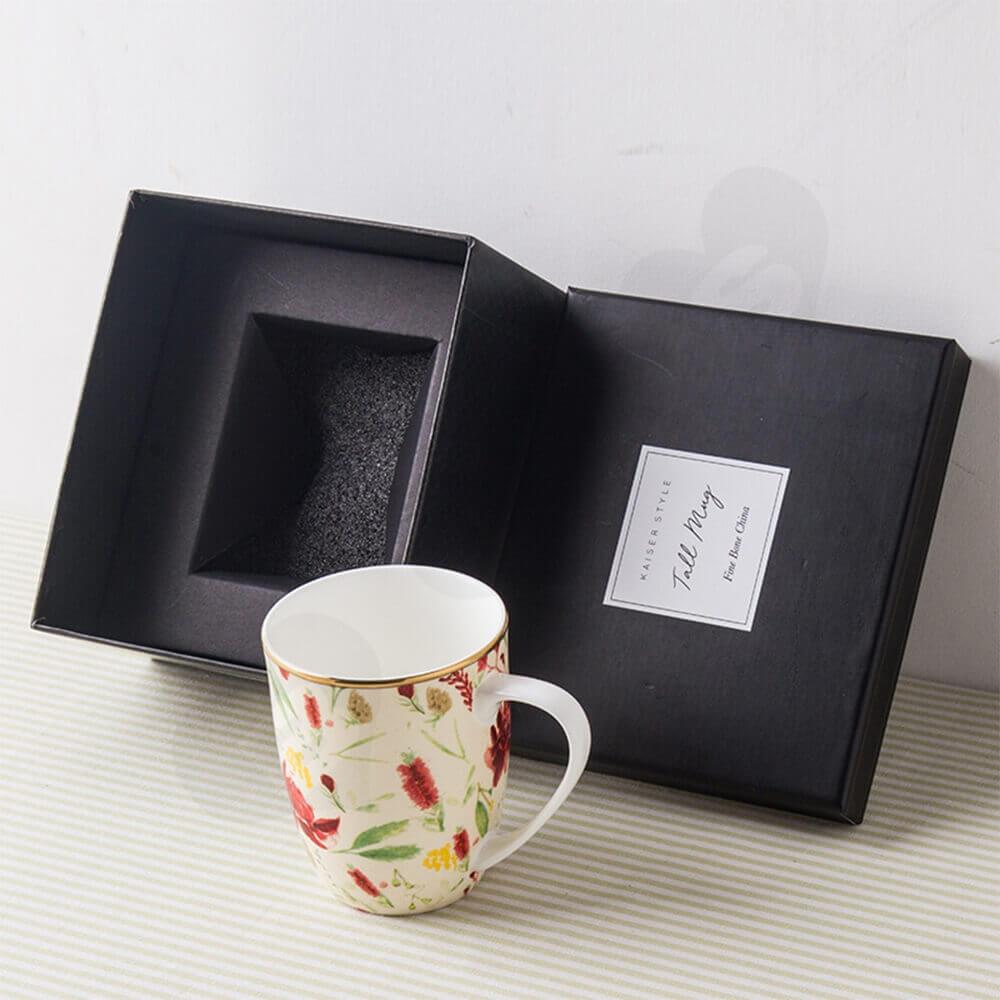 Custom Printed Coffee Mug Gift Box Side View Three