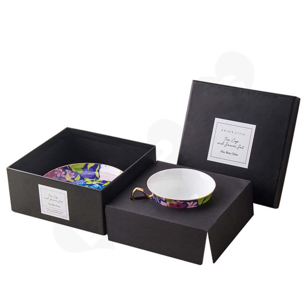 Custom Printed Coffee Mug Gift Box Side View Two