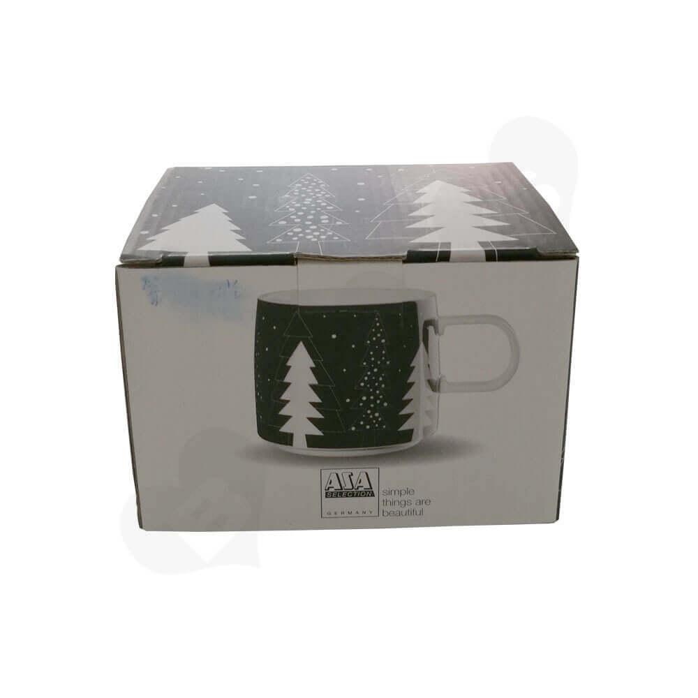 Custom Printed Corrugated Folding Carton For Coffee Mug Side View Four