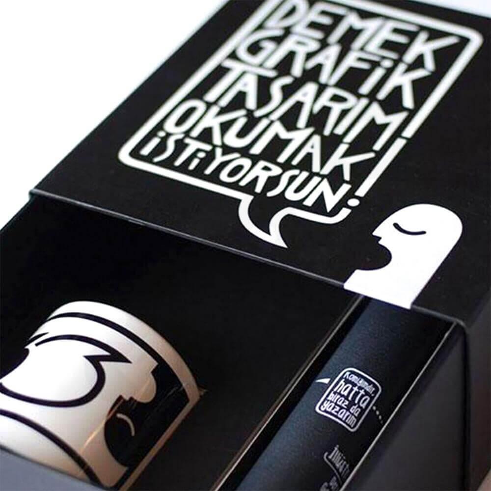 Custom Printed Sliding Mug Box Side View Three