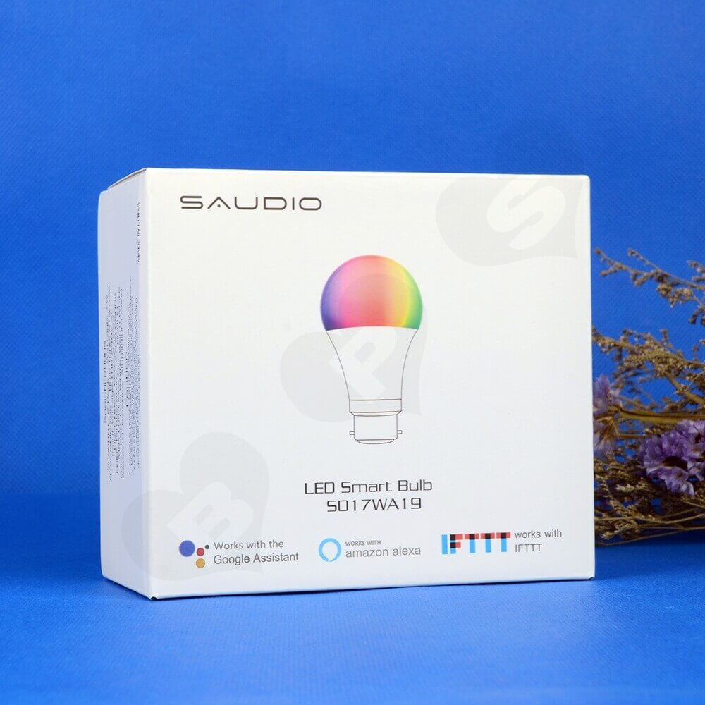 Customizable Folding Carton For LED Smart Bulb Side View Two