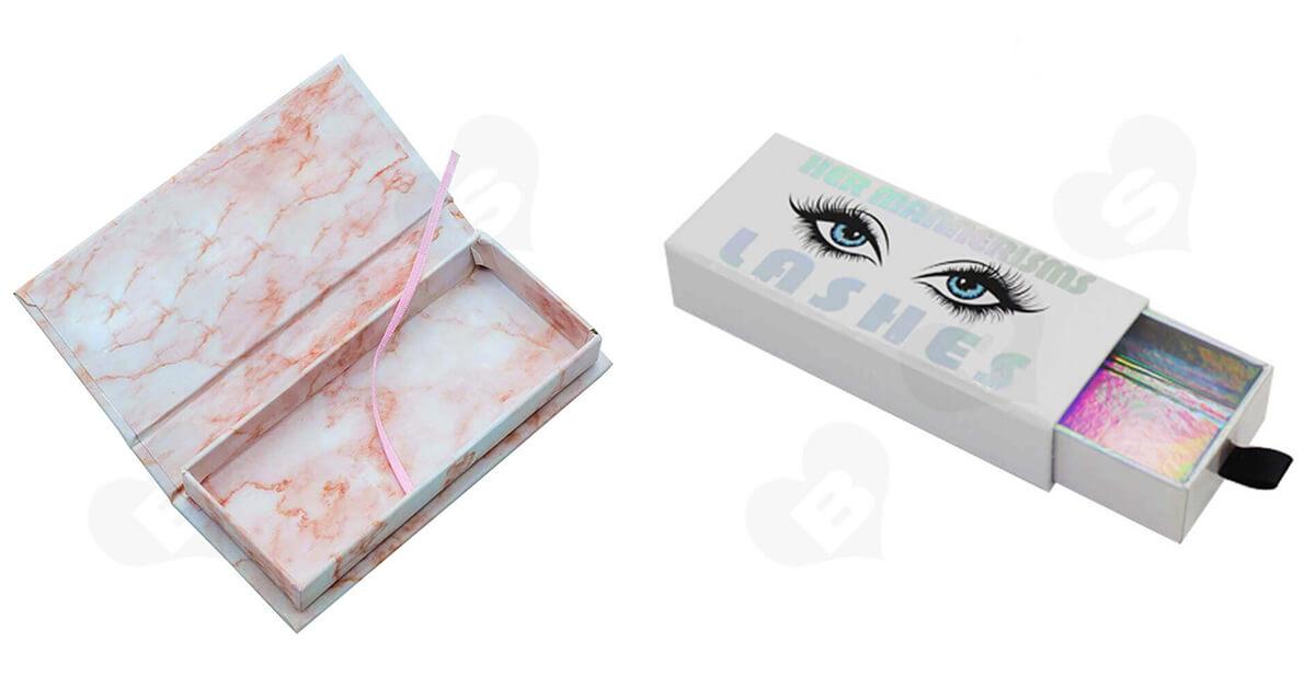 Customizable eyelash packaging boxes made in China