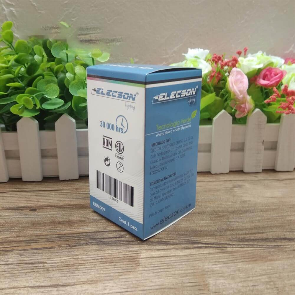 Customized Folding Carton For LED Bulb Side View Two