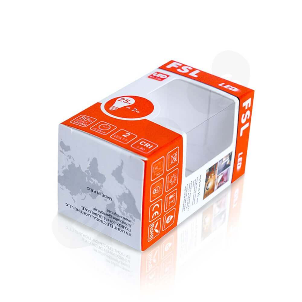 FSL LED Light Packaging Box With Window Side View Five