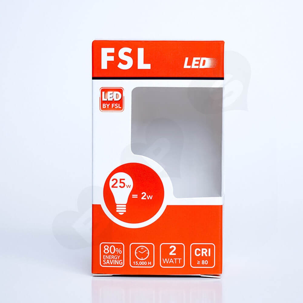 FSL LED Light Packaging Box With Window Side View Three