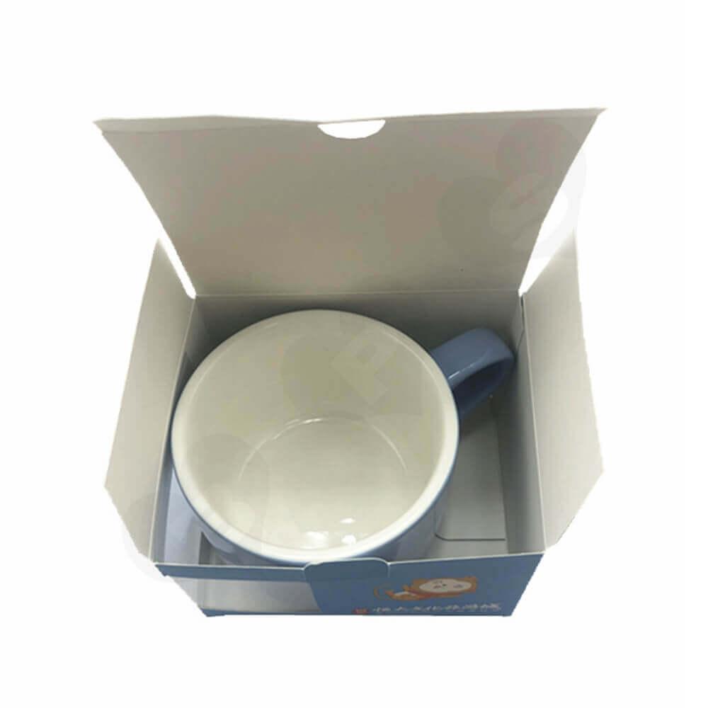 Folding Carton For Mug Retail Sales Side View Two