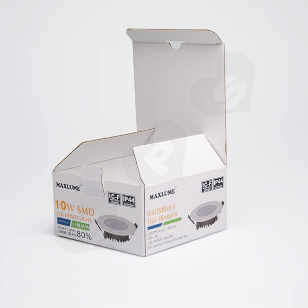High Quality LED Down Light Packaging Box Side View Five