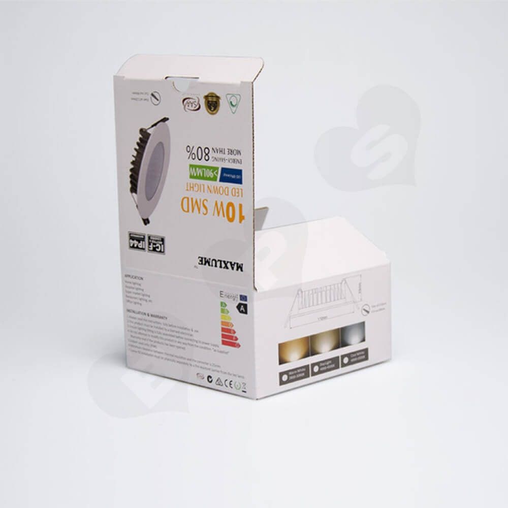 High Quality LED Down Light Packaging Box Side View Three