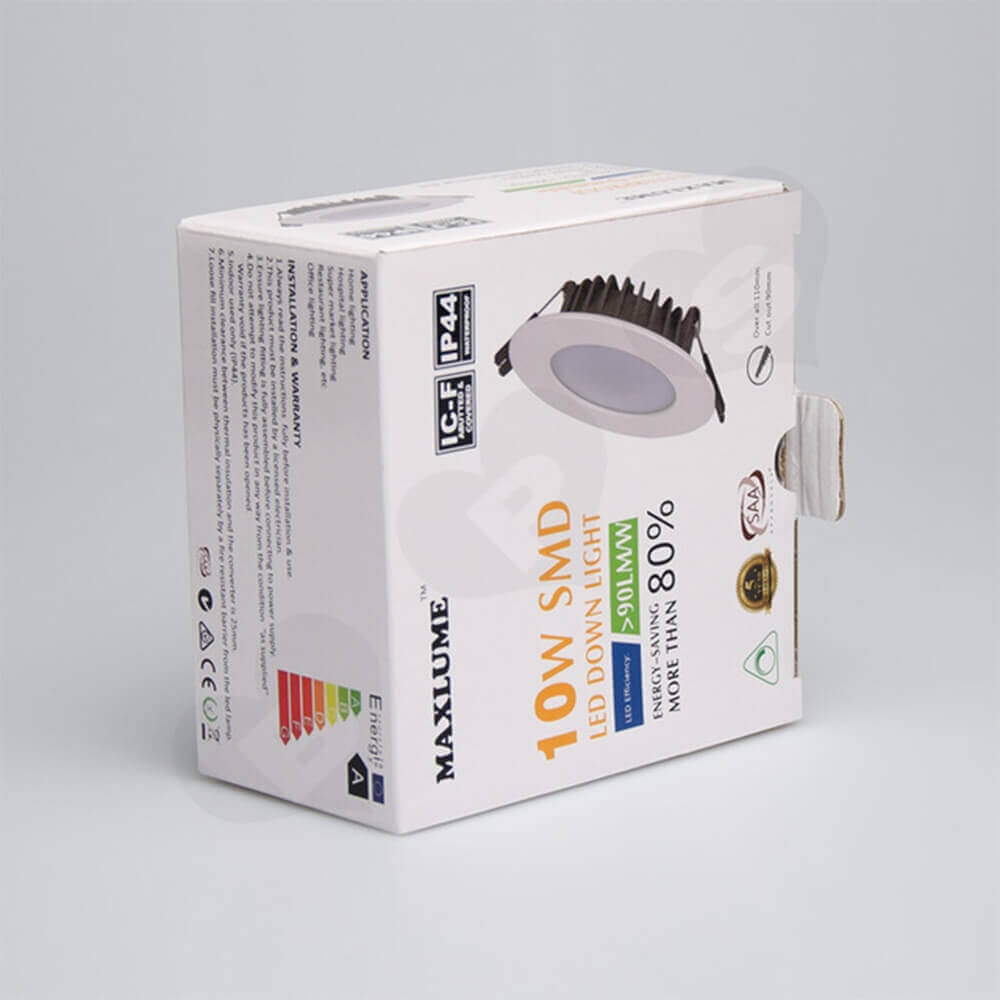 High Quality LED Down Light Packaging Box Side View Two