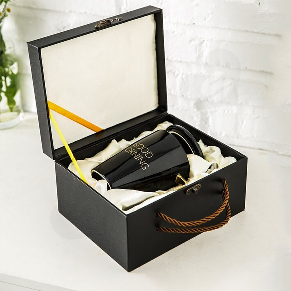 Luxury Gift Box With Handle For Mug Side View Two