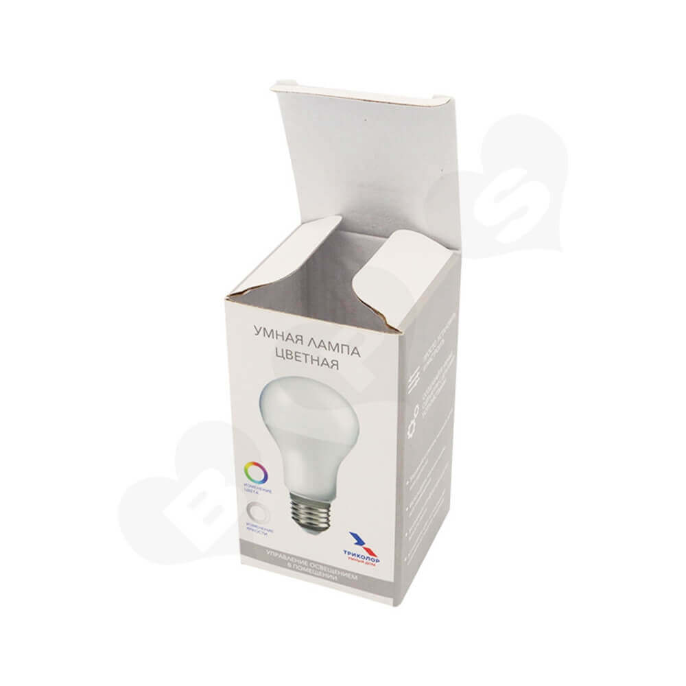 Smart LED Light Packaging Box Side View Three