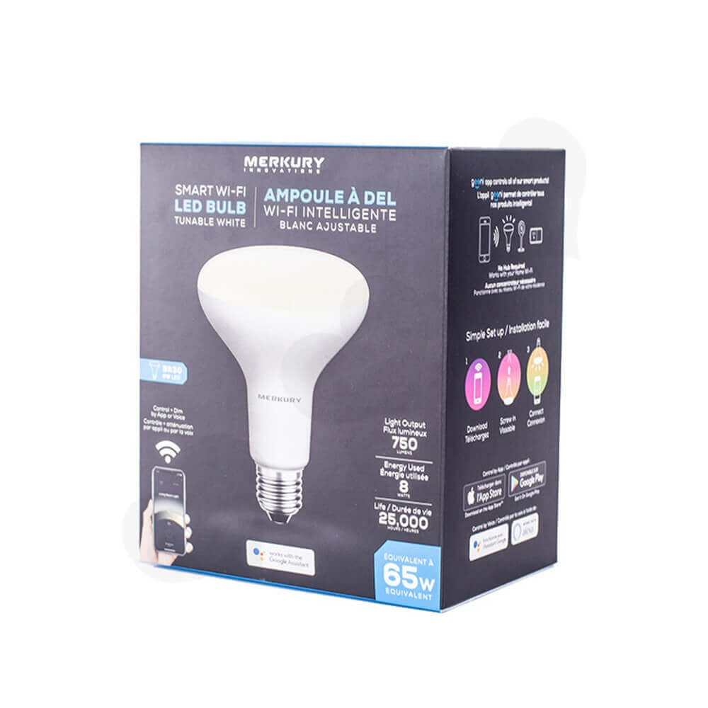 Smart WIFI LED Bulb Packaging Carton Boxes Side View One